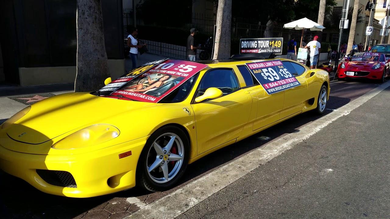 Ferrari limousine Hollywood California
