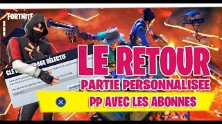 🔴LIVE FORTNITE PARTIE PERSONNALISÉE ( PP *PARTIE PERSO* )FORTNITE BATTLE ROYALE PS4 FR HD 720P