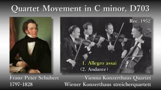 Schubert: String Quartet No. 12, Vienna Konzerthaus Quartet (1952) シューベルト 弦楽四重奏曲第12番