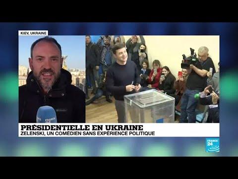 Présidentielle en Ukraine : Le comédien Zelenski vire en tête