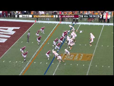 Josh Dobbs: Tennssee vs Alabama 2nd Half Offensive Snaps