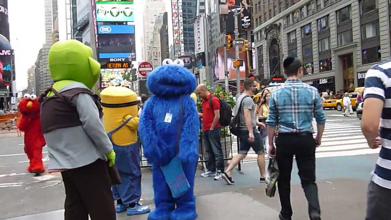 time square cartoon characters youtube