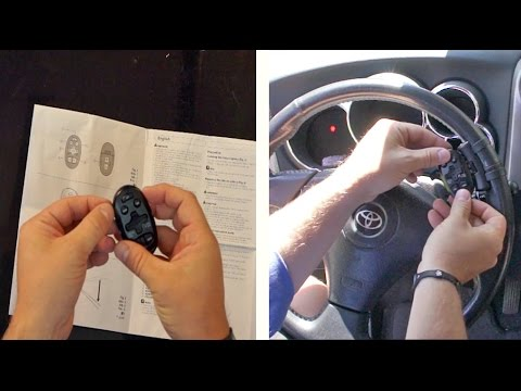 How to Install Steering Wheel Car Remote Control  YouTube
