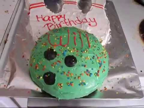 Cake Arch Balloon Design : How to:Bowling Ball Birthday Cake - YouTube