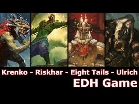 Krenko vs Rishkar vs Eight-and-a-Half Tails vs Ulrich EDH / CMDR game play for Magic: The Gathering
