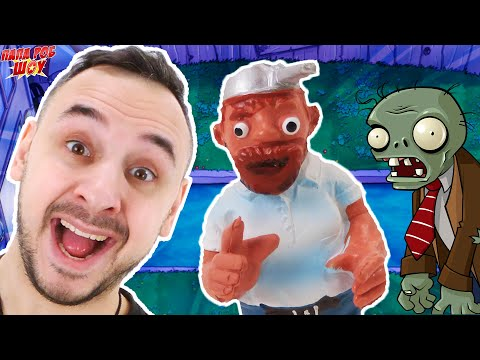 ПАПА РОБ И ЗОМБИ ПРОТИВ РАСТЕНИЙ: АТАКА В ТЕМНОТЕ И НА СТРОЙКЕ В PLANTS VS ZOMBIES! 13+