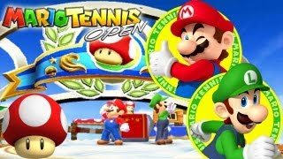 Mario Tennis Open 3DS: Part 1: World Open - Mushroom Cup