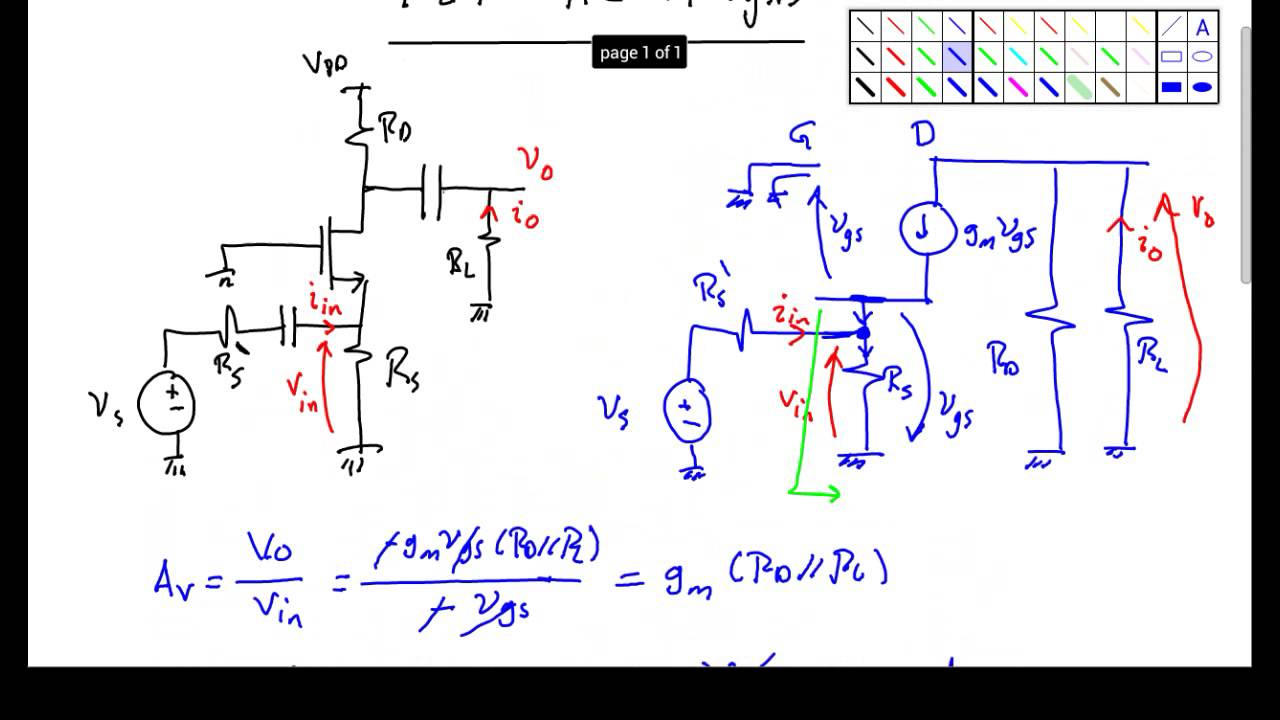 Fet Ac Analysis Part 5 Youtube Mosfet Circuit Examples