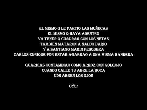 Calle 13 Tributo A La Policia Letra
