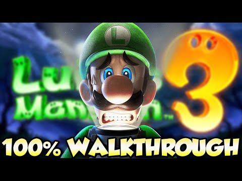 Luigi's Mansion 3 - FULL GAME 100% Walkthrough 🔴LIVE (All Gems & All Boos)
