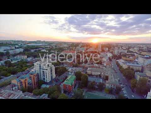 Graphics 2018 | Eastern Europe Sunset Cityscape (Stock Footage)