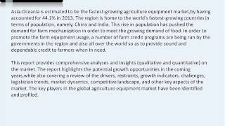 Worldwide Agriculture Equipment Industry Forecast to 2019
