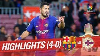 Resumen de FC Barcelona vs RC Deportivo 4-0