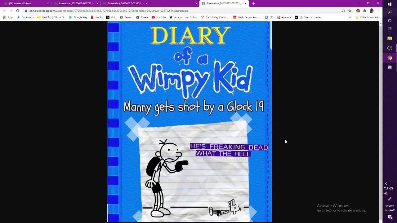 Diary Of A Wimpy Kid Manny Gets Shot By A Glock 19 Youtube