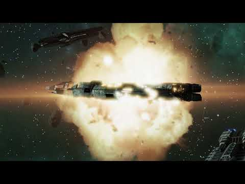 Battlestar Galactica Deadlock - The Destruction Above Virgon