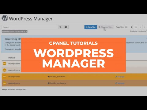 cPanel Tutorial: WordPress Manager 3.0