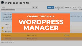cPanel Tutorials - WordṖress Manager