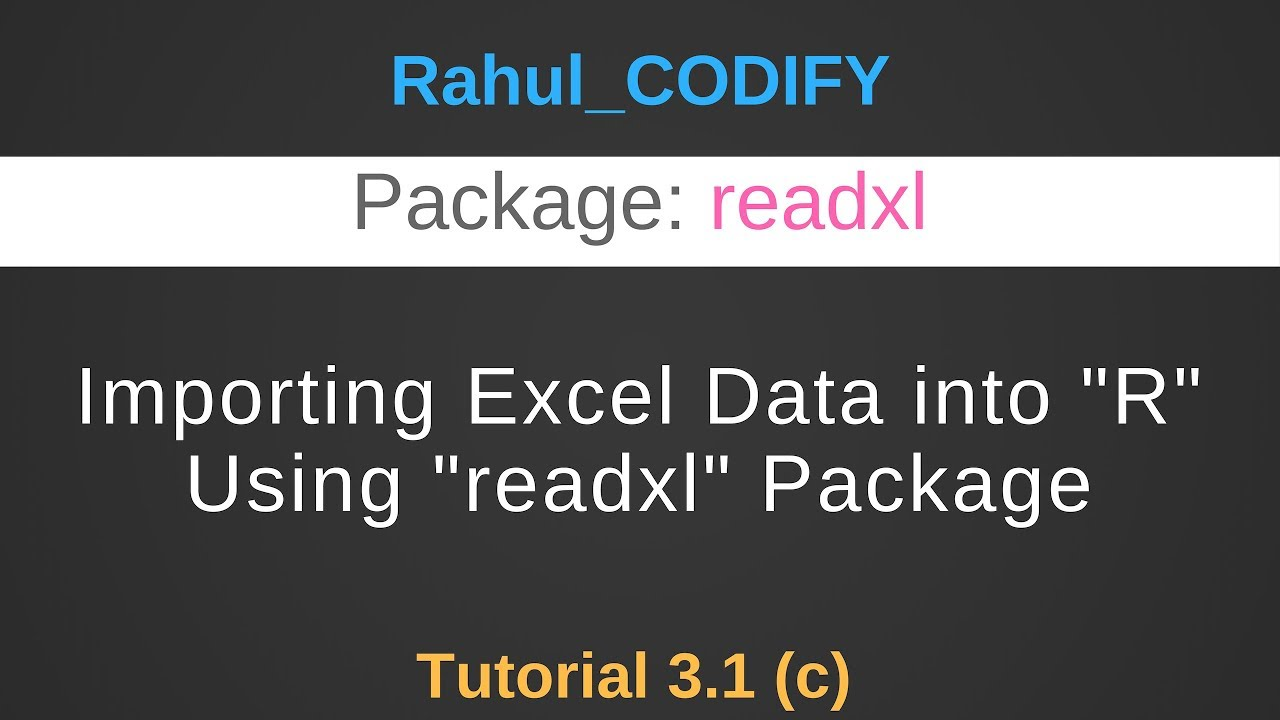 Importing Excel data into R using readxl package [R Data Science Tutorial  3 1 (c)]