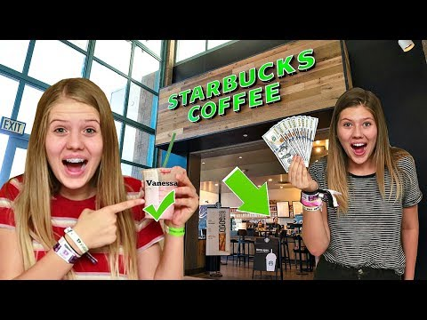 Giving Starbucks Employees $1000 If They Spell My Name Right || Taylor & Vanessa