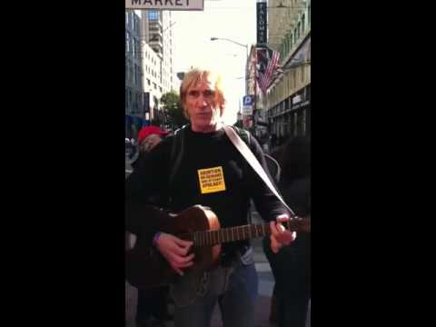 Francis singing protest songs