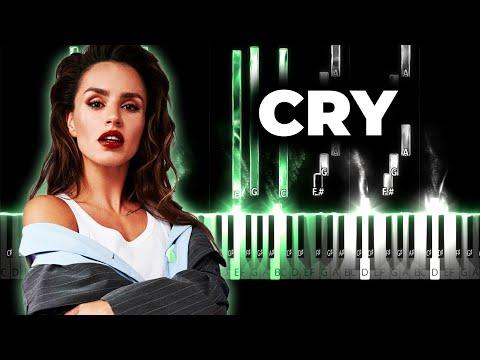Zivert - CRY караоке, текст, кавер на пианино - Зиверт