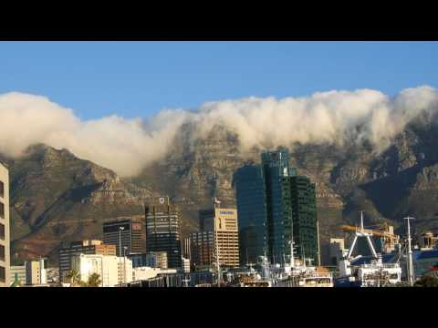 Table Mountain from Waterfront at Cape Town (South Africa) 4K video