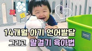14개월 아기 언어발달 & 말걸기 육아법