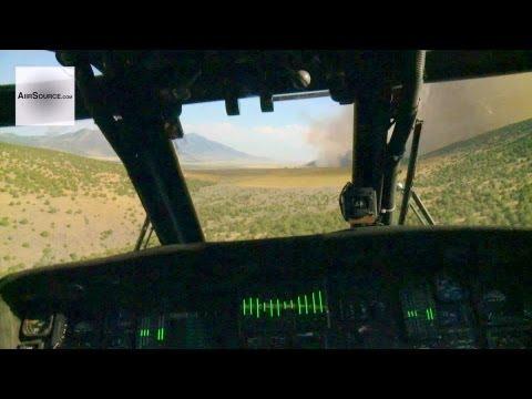 UH-60L Blackhawk Bambi Bucket Aerial Firefighting. Logan, Utah and Malad, Idaho