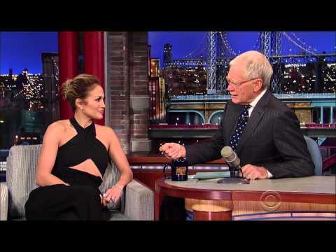 Jennifer Lopez and David Letterman discussing Jennifer's fragrance empire