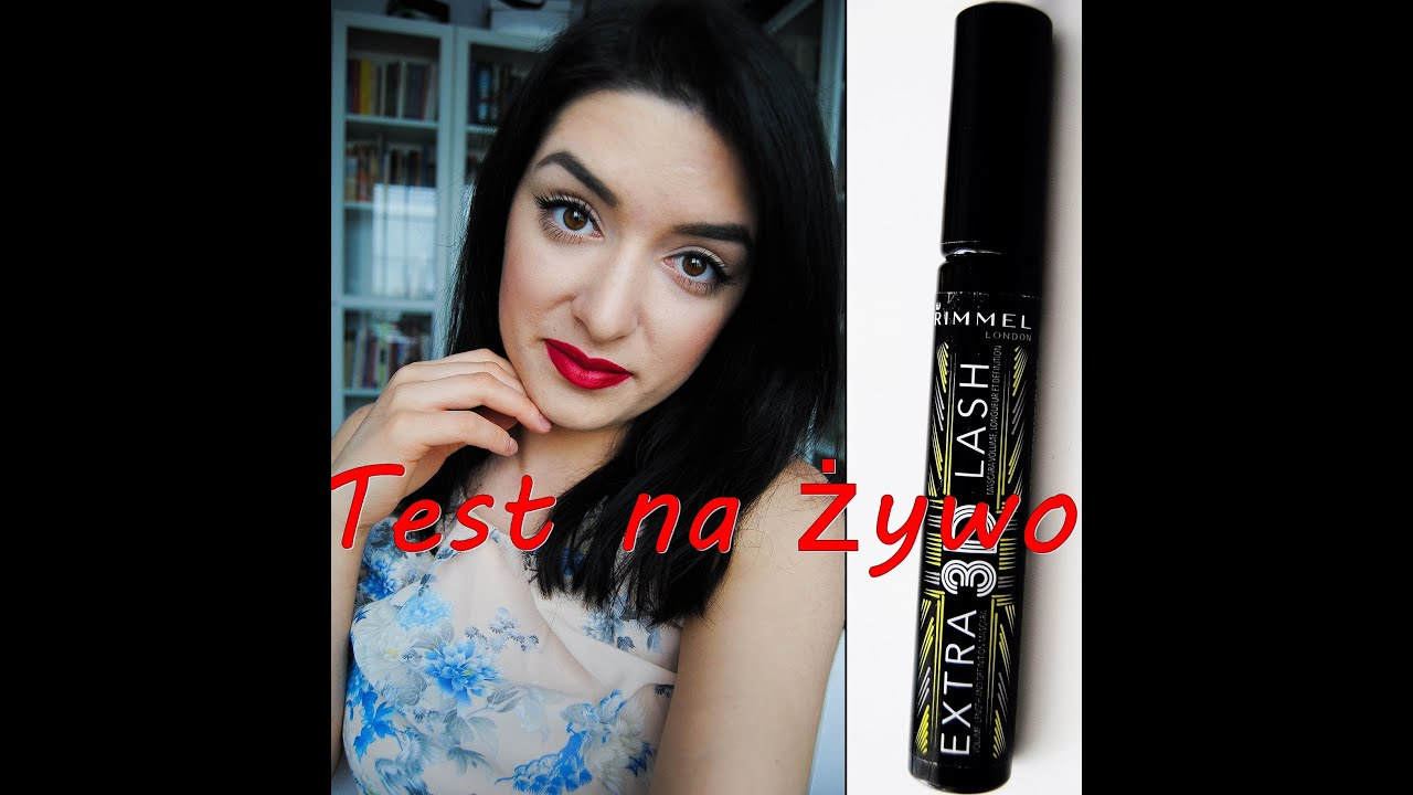 7218a15dfd3 Test na żywo + recenzja /First Impression Rimmel Extra 3D Lash ( with subs )