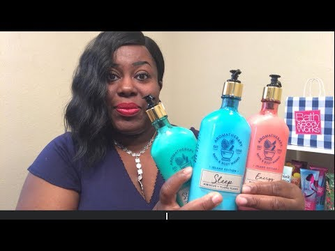 BATH & BODY WORKS NEW SPRING AROMATHERAPY COLLECTION