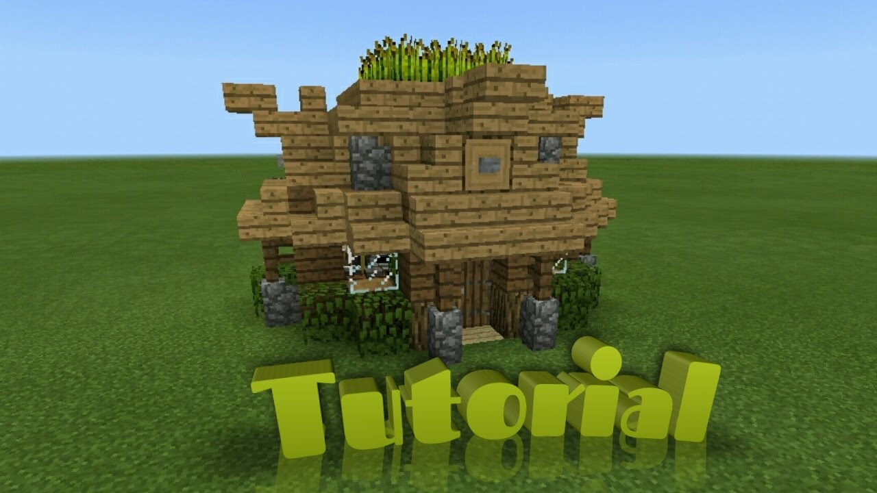 Minecraft tutorial how to build a small survival shack for How to build a small shack