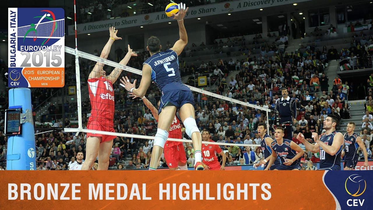 2015 Men's EuroVolley - Highlights Bronze medal match ...