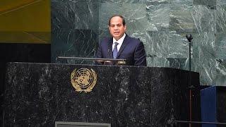 كلمة الرئيس عبد الفتاح السيسي فى اجتماعات الجمعية العامة بالأمم المتحدة بنيويورك