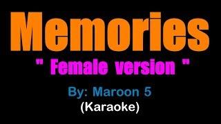 MEMORIES - Maroon 5 - FEMALE (karaoke version) Higher key