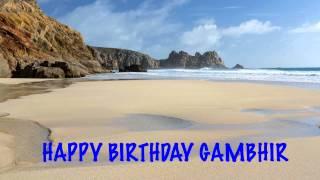 Gambhir   Beaches Playas - Happy Birthday