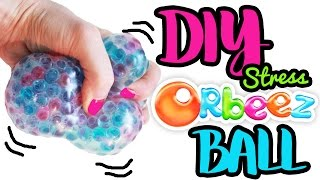 How to Make Stress Balls with Orbeez!! Super Big Squishy Ball  ToyCaboodle
