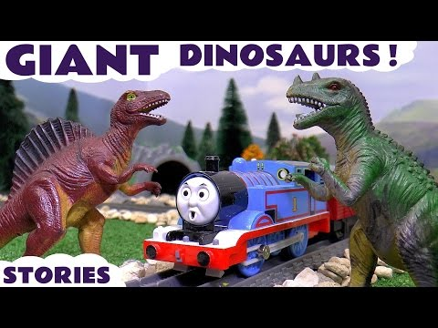 Thumbnail: Thomas The Train with Dinosaurs and Minions | The Good Dinosaur with Play Doh and Surprise Eggs