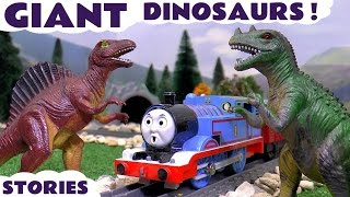 Thomas and Friends with Dinosaurs and Minions | The Good Dinosaur with Play Doh and Surprise Eggs