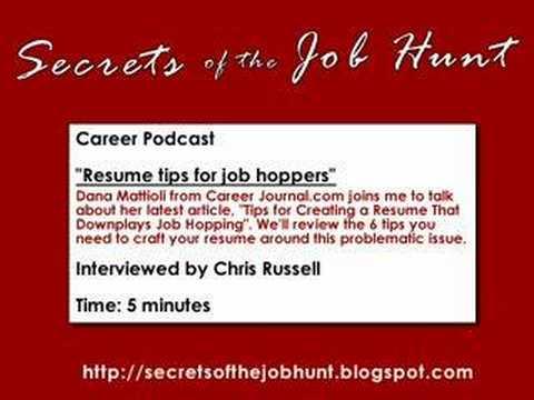 resume tips for job hoppers youtube