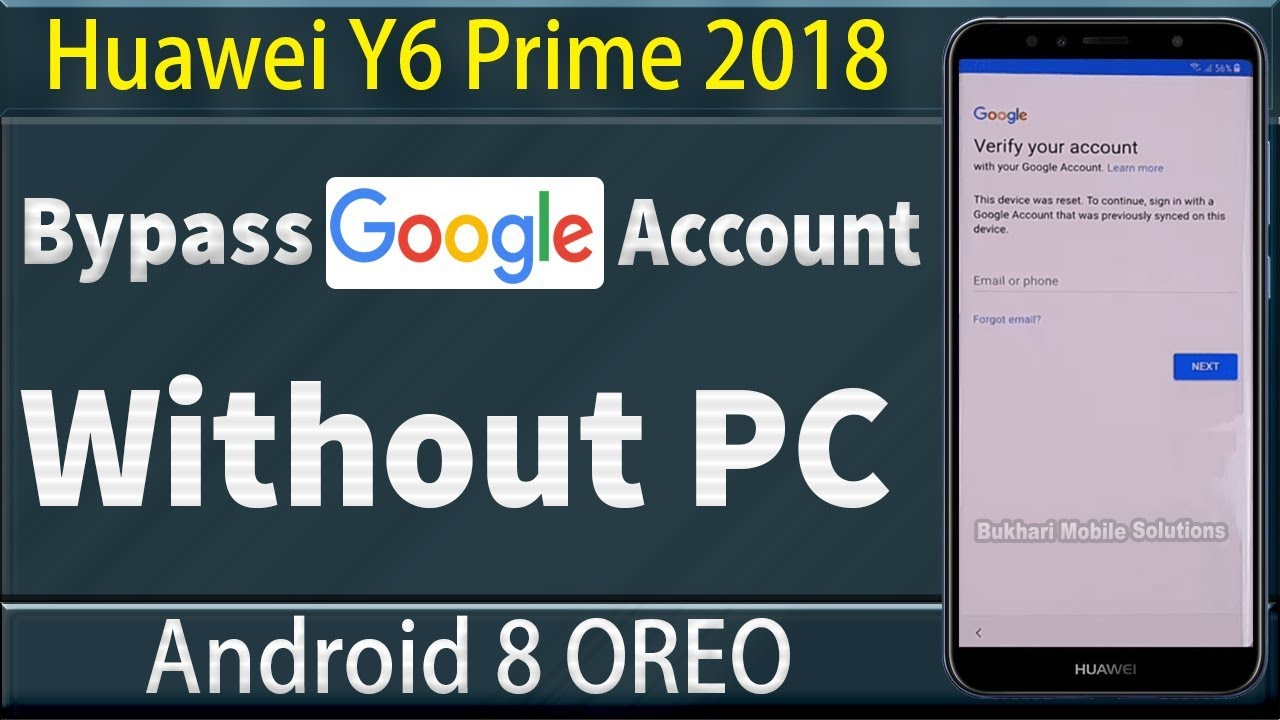 Huawei Y6 Prime 2018 Bypass Google Account, Easy FRP Bypass