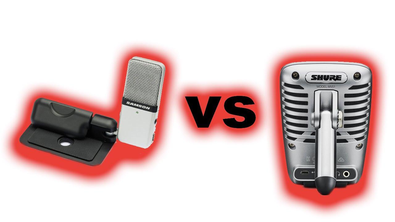 samson mini usb vs shure microphone youtube. Black Bedroom Furniture Sets. Home Design Ideas