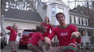 Family creates cute #Xmas Jammies video