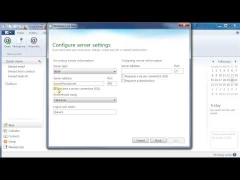Windows Live Mail 2012 IMAP Account Setup