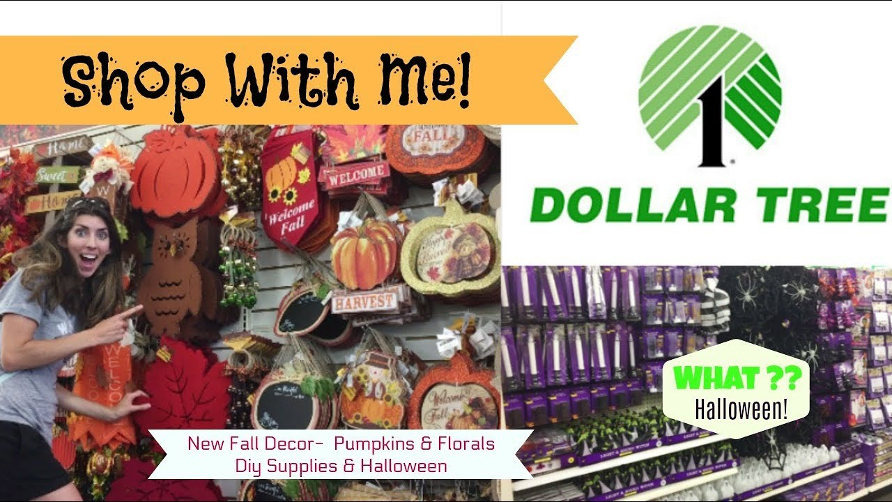 dollar tree fall decor new finds halloween 8 10 17 shop with me - Dollar Tree Halloween
