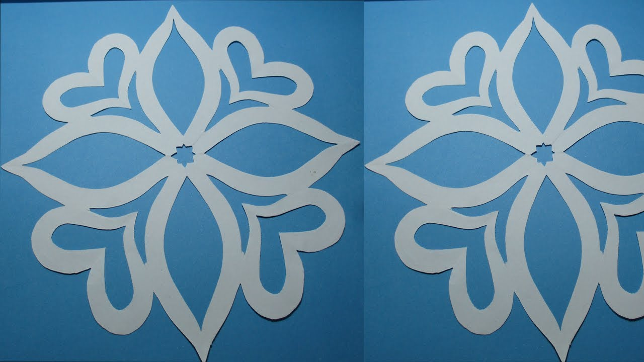 How To Make Simple Easy Paper Cutting Flower Designs Diy Tutorial Step By