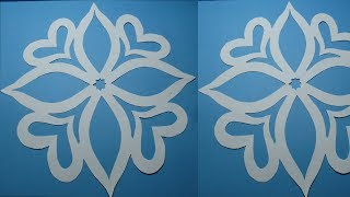 How to make simple & easy paper cutting flower designs?DIY Tutorial step by