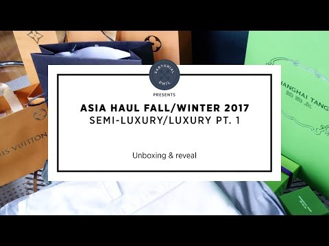 Asia Semi/Luxury Haul FW 2017, pt.1: Louis Vuitton, Erdem x H&M, Shanghai Tang, etc.