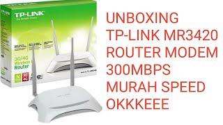 Gambar cover Unboxing TP-LINK TL-MR 3420 modem series