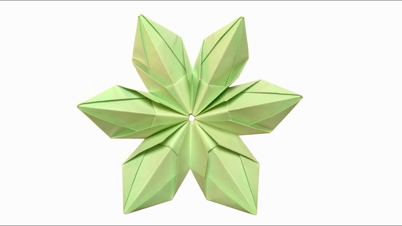 Modular Origami Flower 6 Unit Tutorial Step By Step Youtube